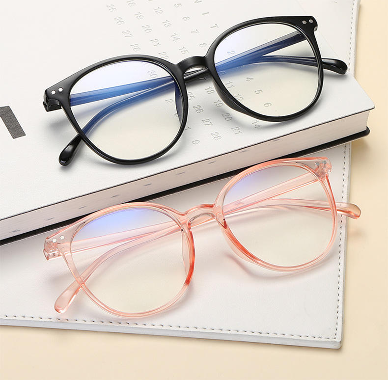 LU191 new arrival colorful classic frame anti blue light blocking computer reading glasses eyewear for women girls