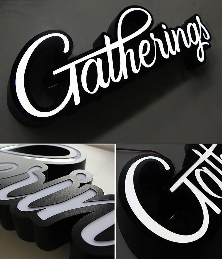 Led Sign Board Light Custom Acrylic Wall Letter Door Signs Outdoor Advertising 3D Letters Electronic