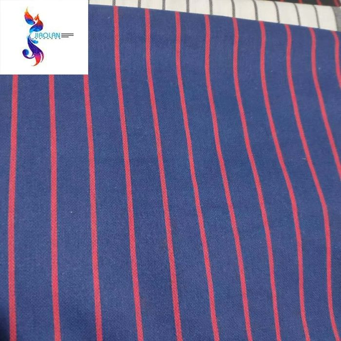 poly cotton linen yarn dyed stripe designs print mixed stock fabric in India
