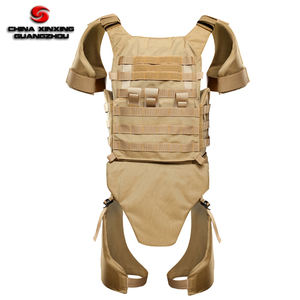 Custom body armor Khaki color PE or Aramid materials NIJ IIIA level full protective bullet proof vest military bulletproof vest