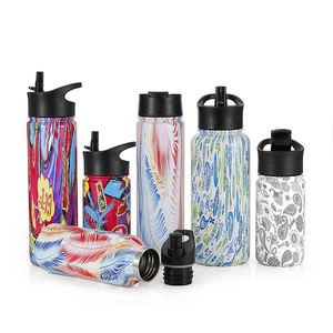 High quality Double wall stainless steel sport water drink bottle Keeps beverage hot or cold for 12 24 hours