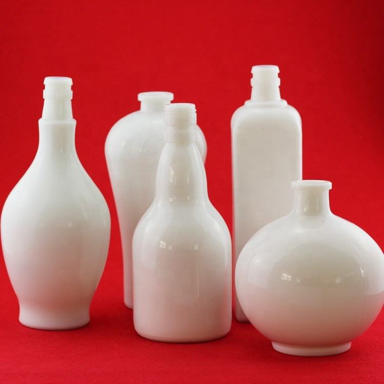 Original White Glass Bottle Opal Glass Liquor Ceramic Wine Bottle 500ml 750ml