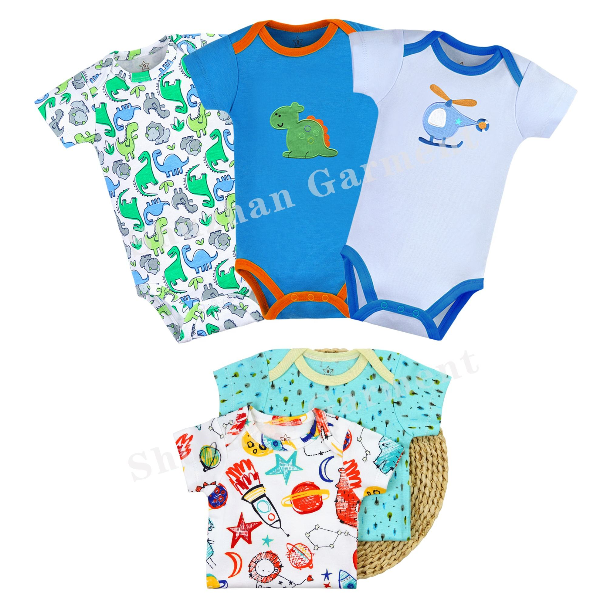 customized infantil rompers summer style cotton knitted newborn baby wears China
