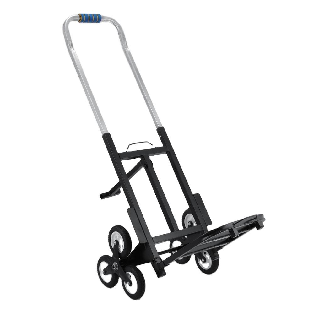 Free shipping Portable Stair Climbing Folding Cart Climb Hand Truck Dolly platform trolly cart can fold /hand truck trolley