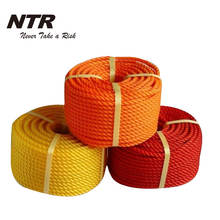 Braid polyethylene rope for outdoor use