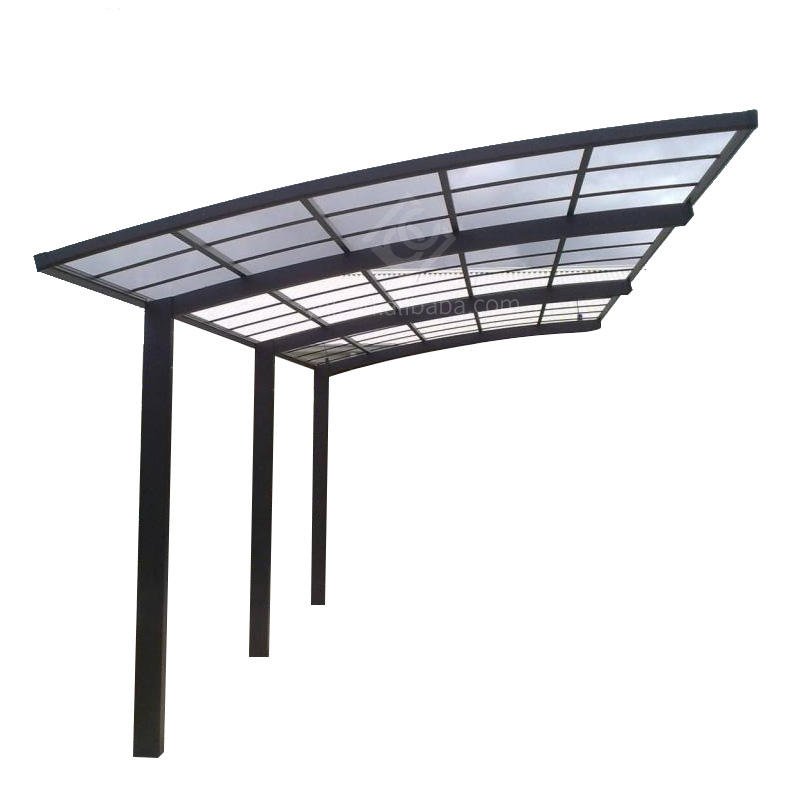 Polycarbonate roof aluminum frame car garage/car parking shade/car shelters