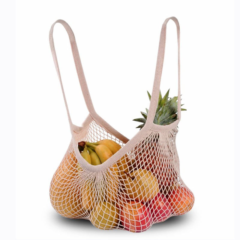 Amazon Organic Cotton Reusable Produce Bags Custom Net Tote Bag Washable Durable Cotton Mesh Bag For Fruit Vegetable Grocery