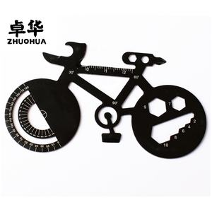 outdoor multi black bike shaped tool card