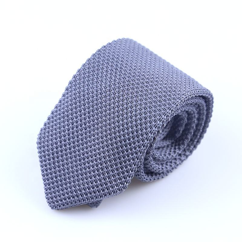 New Design Solid Color Knitted 100% Polyester Men'S Tie