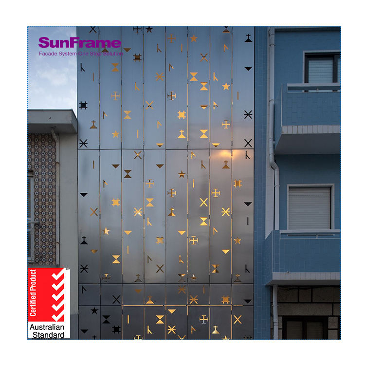 Sun Frame 2019 Hot Sale Ventilated Facade Composite Panel