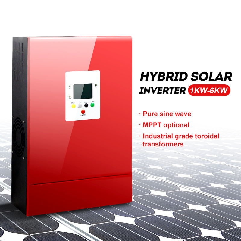 Hybrid solar inverter 1000w 2000w 3000w 4000w 5000w 6000w off grid pure sine wave power hybrid inverter