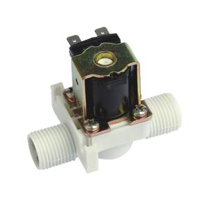 220V normally open/normally closed latching plastic solenoid valve with protective cover