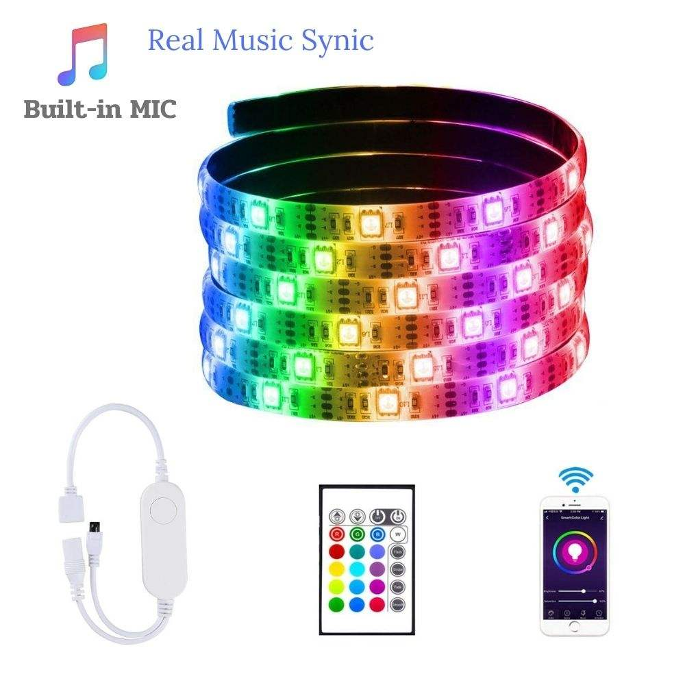 12V Smart LED lighting SMD 5050 LED Rope Lights Color Changing with IR Remote Controller LED Lighting Strips for Christmas