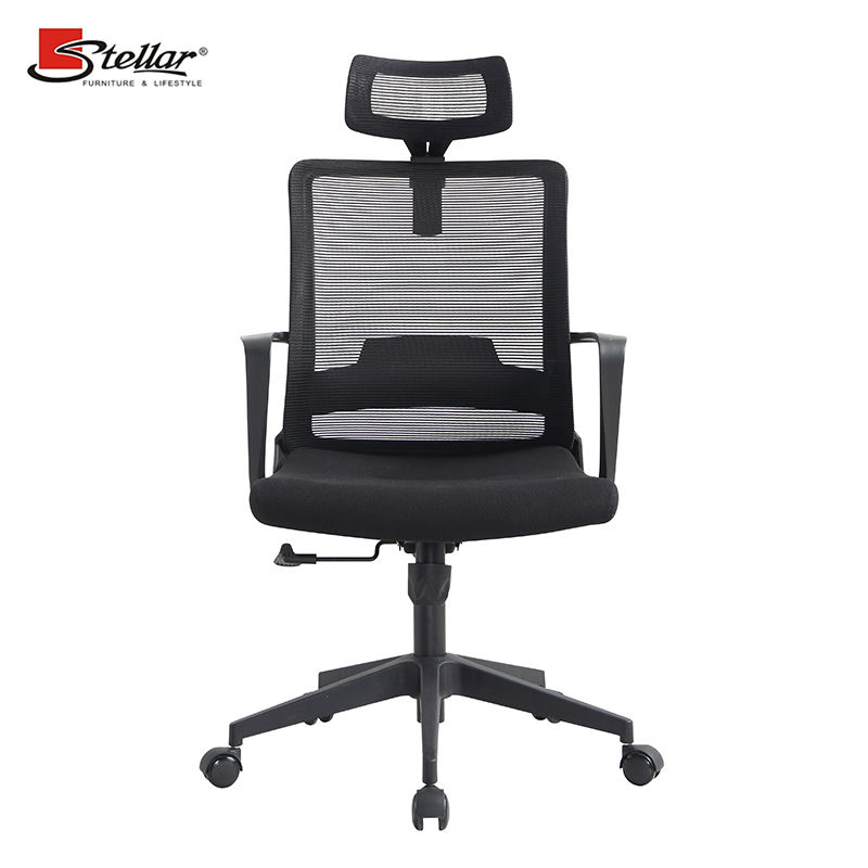 black mesh office desk chair ergonomic executive high back mesh office chair with headrest furniture modern mesh executive chair