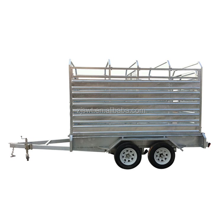 10x6 cattle crate stock trailer with long ramp