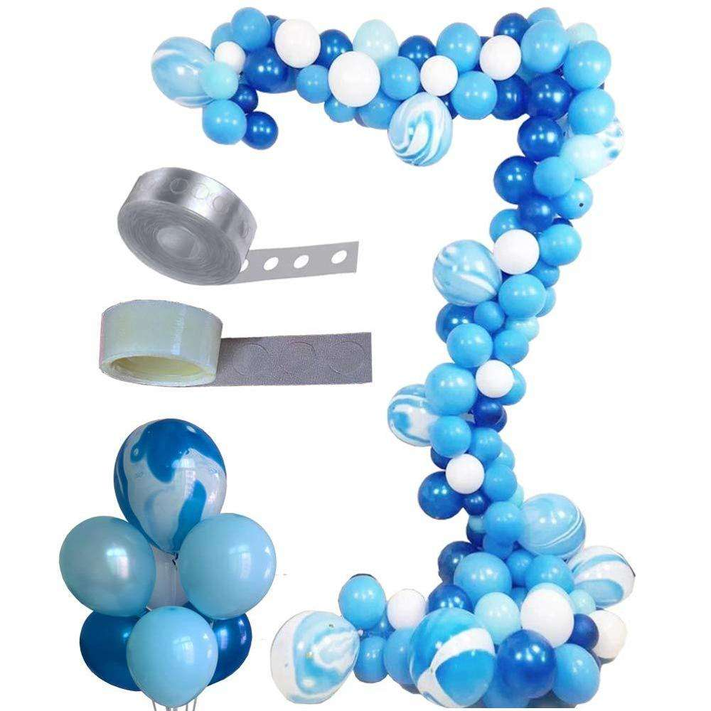 DIY Party Dekorationen Liefert Günstige Blau <span class=keywords><strong>Thema</strong></span> Ballon Arch Stehen Kit