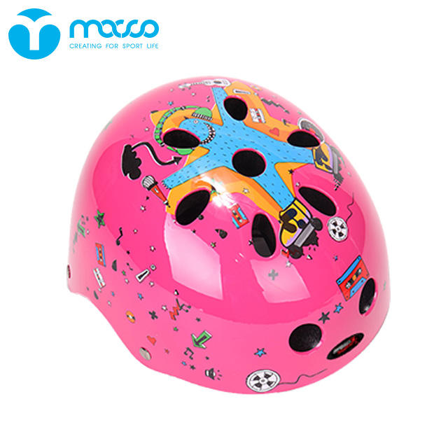 Helmet Protect MACCO Children's Helmets Skates Head Protection Scooter Helmets K9 Pink
