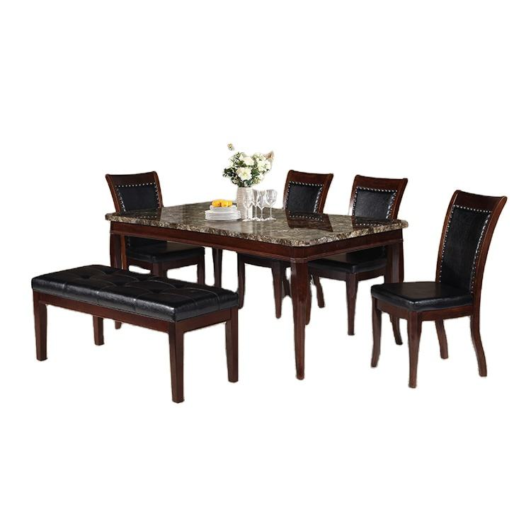6 Chair Home Furniture Set Dining 1 Piece Dining Room Set With Bench