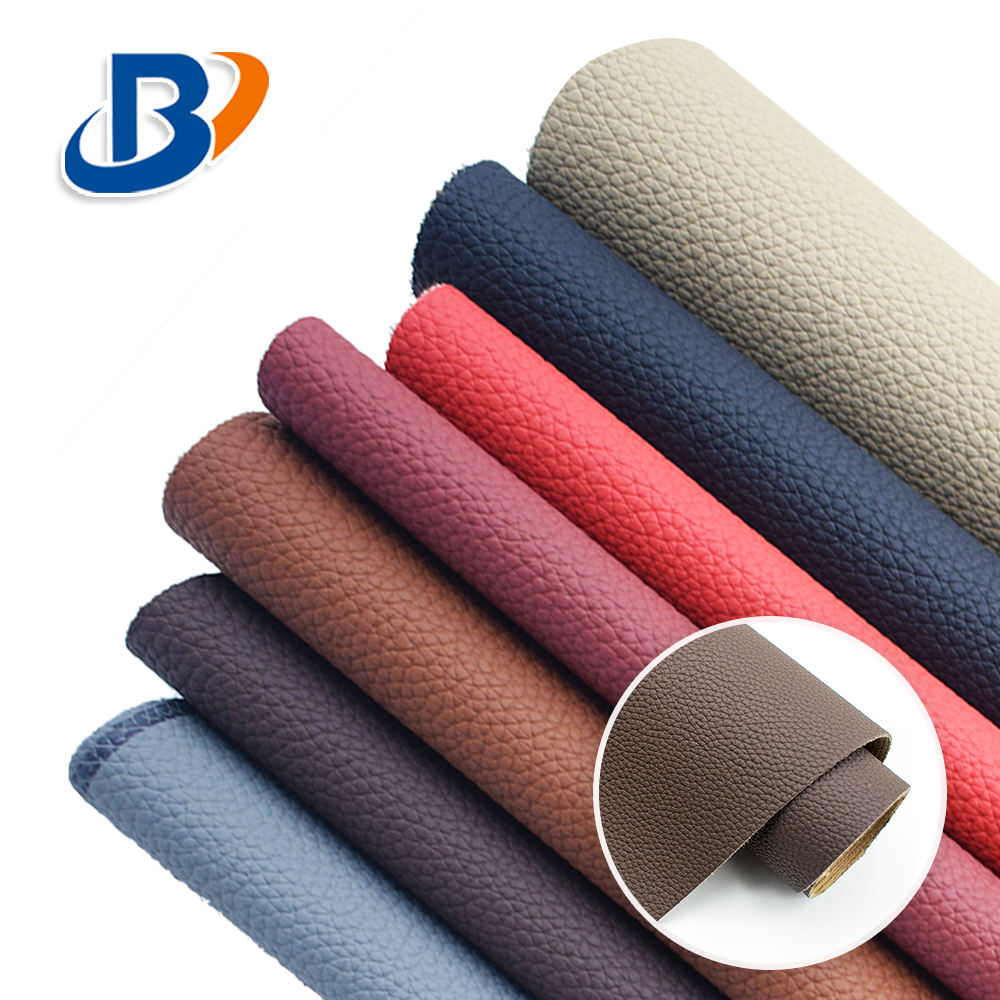 Guangzhou Lychee Grain Embossed PVC Artificial Faux Leather For Car Seats