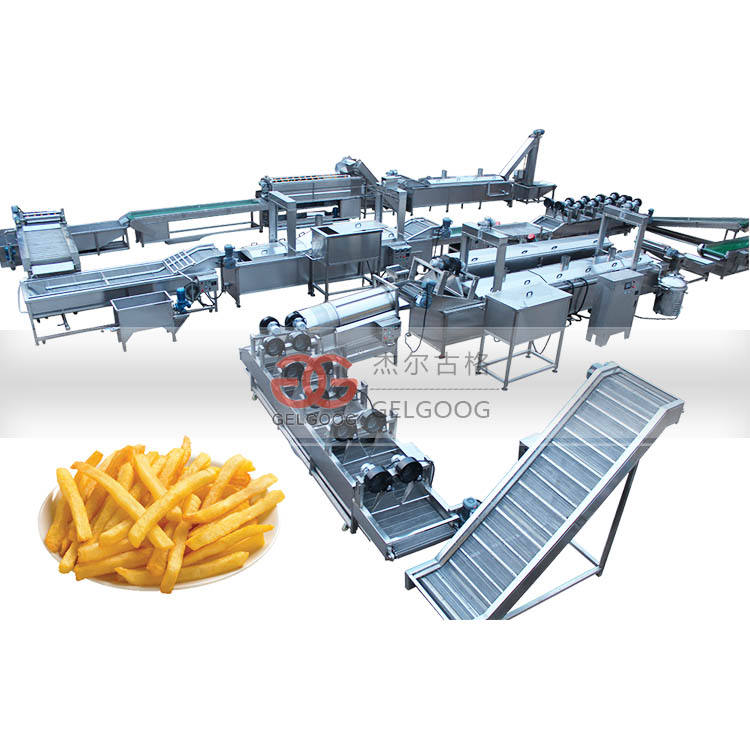Full Automatic Frozen Potato Chips Making Machine Price for French Fries