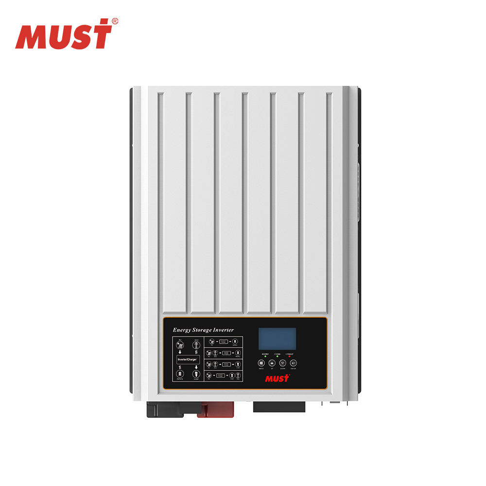 MUST NEW PH3000 Series low frequency 2-4KW single phase pure sine wave output on/off grid hybrid G83 certificated solar inverter