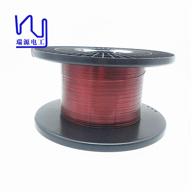 0.05-0.1mm Rectangular Enameled Wire Flat Magnet Copper Wire For Winding