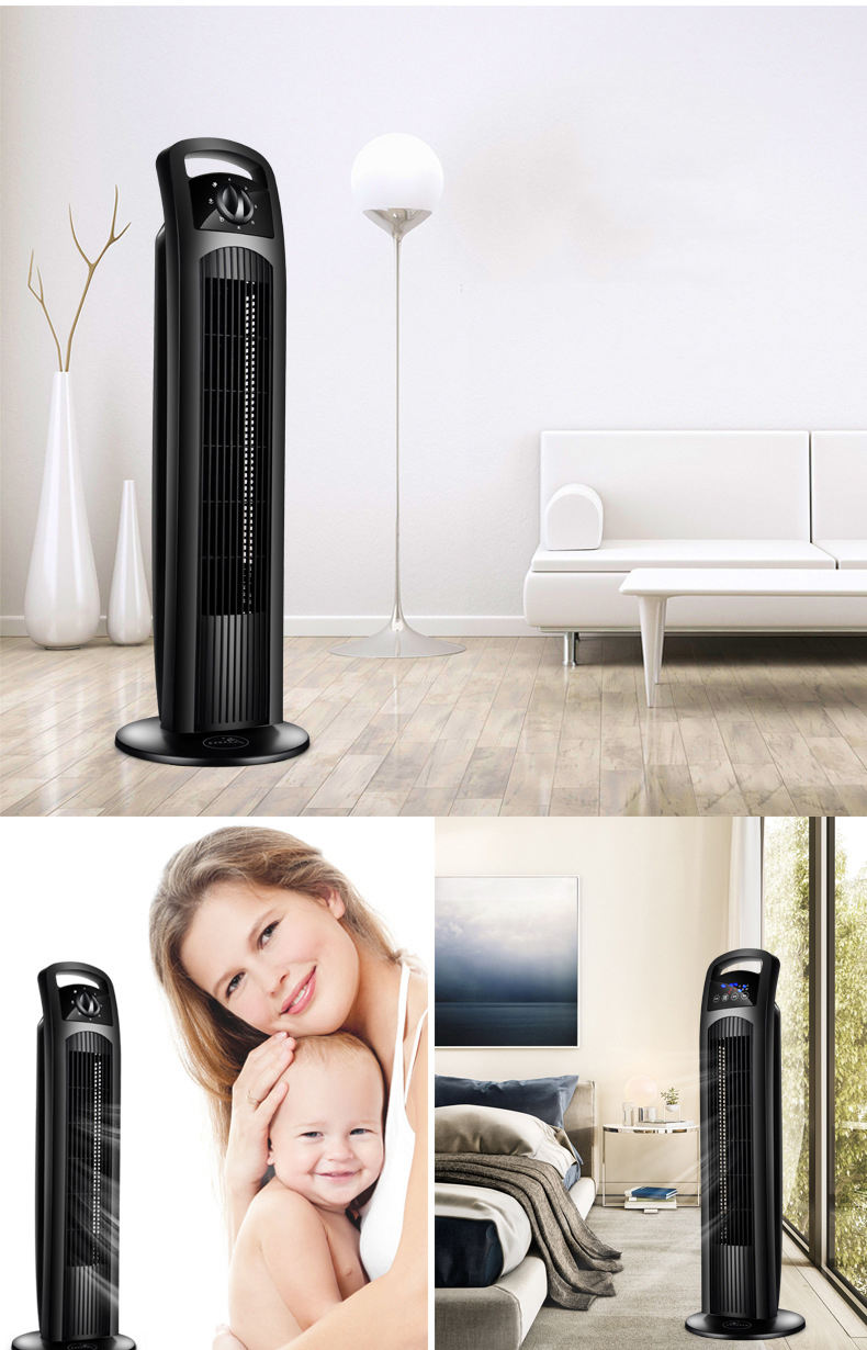 Home office 220v water mist air cooler fan with remote,high quality wide air wind 2 speed cool tower fan