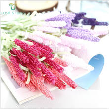 Factory Wholesale Artificial Flowers And Plants European Style Provence Lavender For Wedding