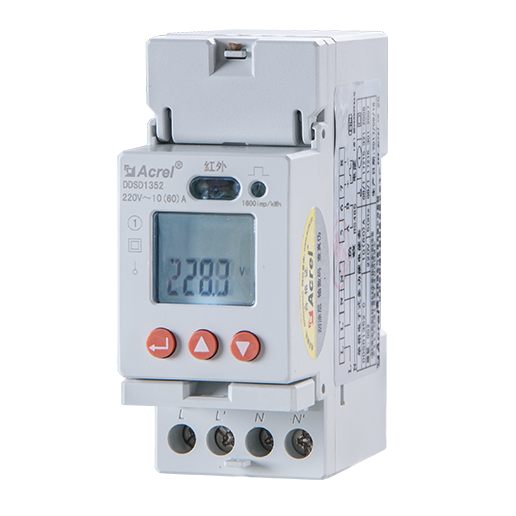 Acrel DDSD1352 single-phase board energy meter 1000watt inverter an battery for solar plate system