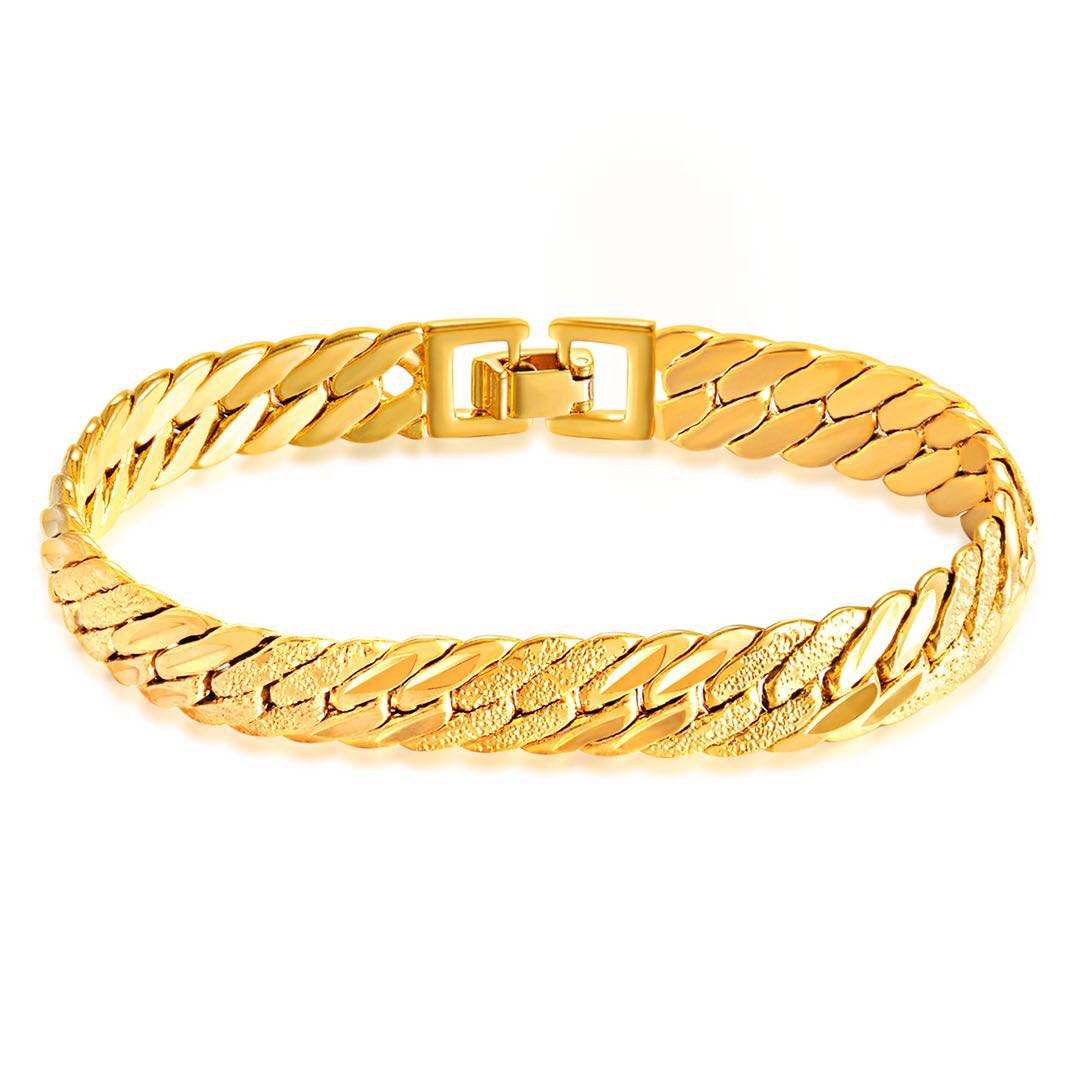 Cuff Plated India Blank Stainless Steel Jewelry 18K Gold Solid Brass Bangle Bracelet