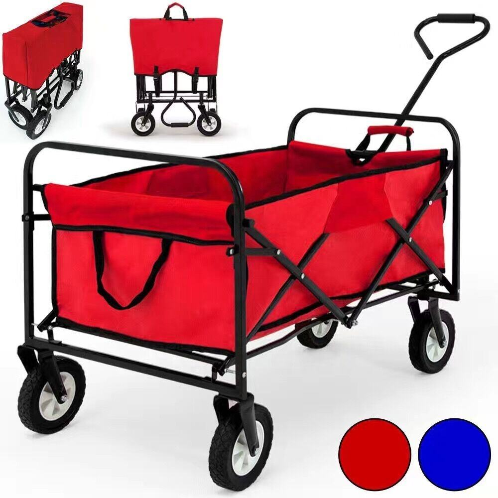Folding Collapsible Utility Camping Grocery Portable Rolling Lightweight Beach Sand Outdoor Sport Picnic Cart GT1801
