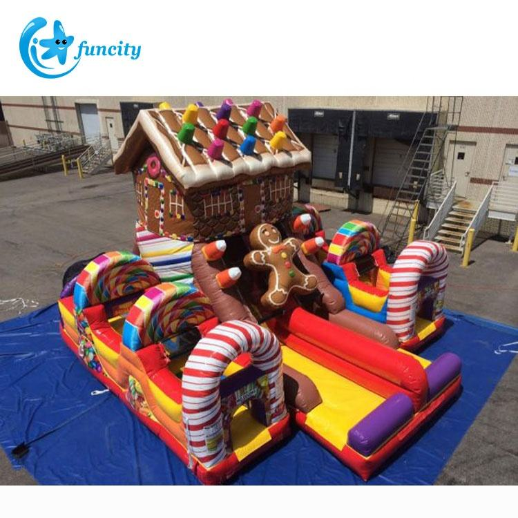 Hot selling inflatable candy bounce house slide yard inflatable jumping castle slide outdoor kids inflatable bouncer with slide