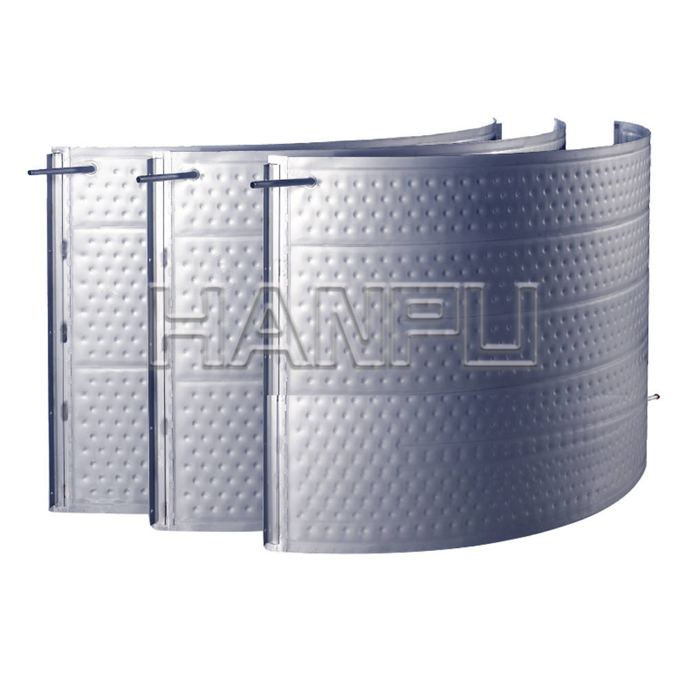 stainless steel tank water jacket pillow tubular heat exchanger condenser evaporate