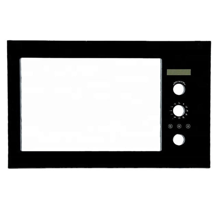Tempered black white ceramic gas oven door glass for microwave door