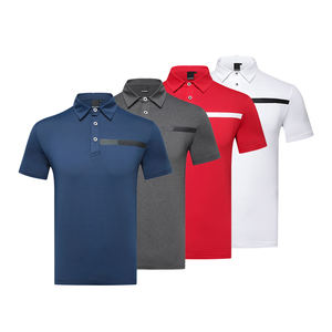 Top quality golf shirt casual T-shirt men's clothing t shirt for men polo Spandex / Polyester