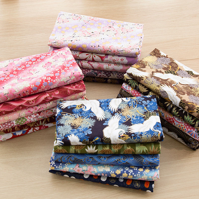 Handmade high quality woven home textile cotton fabric printed