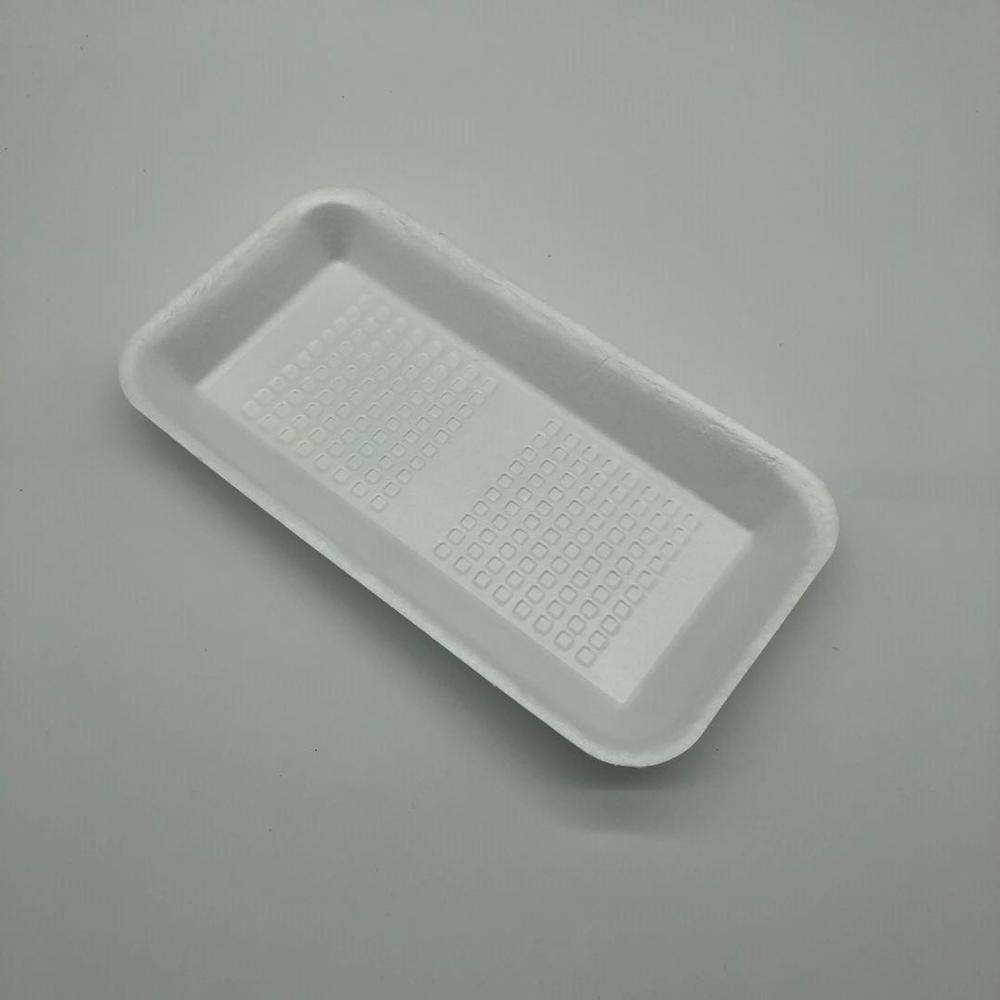 eco-friendly compostable pla foam tray biodegradable meat tray