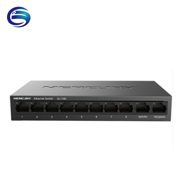 Monitoramento dedicado SL110D 10-port Gigabit uplink ferro shell interruptor 8-port switch 100M Plug and play