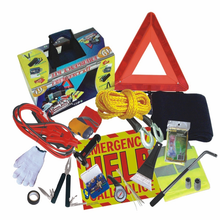 Auto Emergency Kit + First Aid Kit Car Accessories Roadside Assistance & Survival Rugged Tool Bag with Jumper Cables