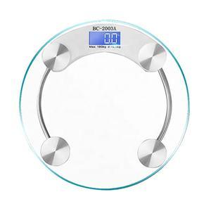 Glass 5mm 6mm 8mm Body Scale, 180kg Bathroom Weighing Scale Digital