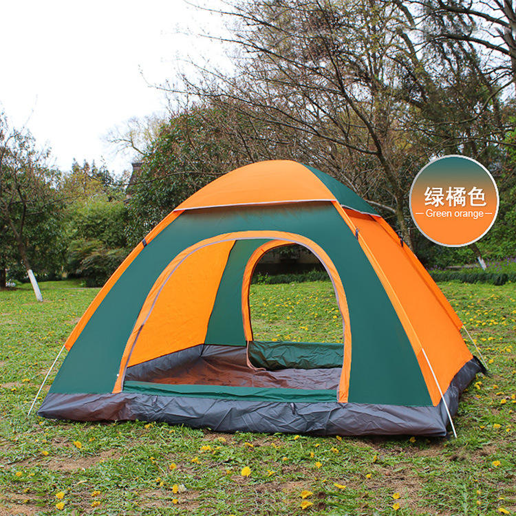 3-4 person Outdoor Automatic Pop Up Army Waterproof Camping Tents
