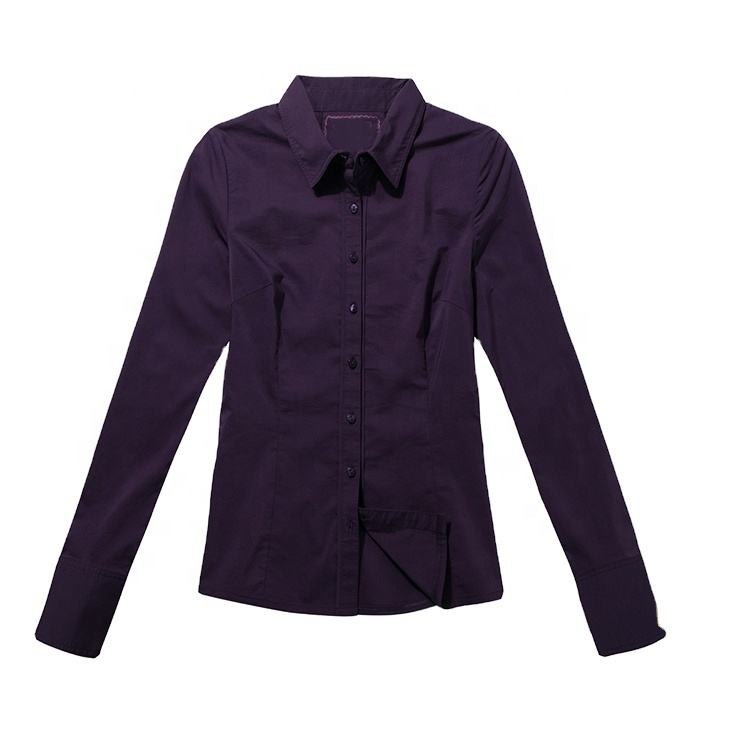 New design office mature ladies sexy fashion sample women formal shirts blouse with Spandex