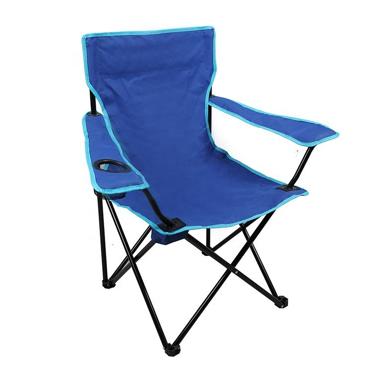 Easy-carrying OEM Multi-color Cheap Outdoor Beach Picnic Folding Armrest Camping Chair