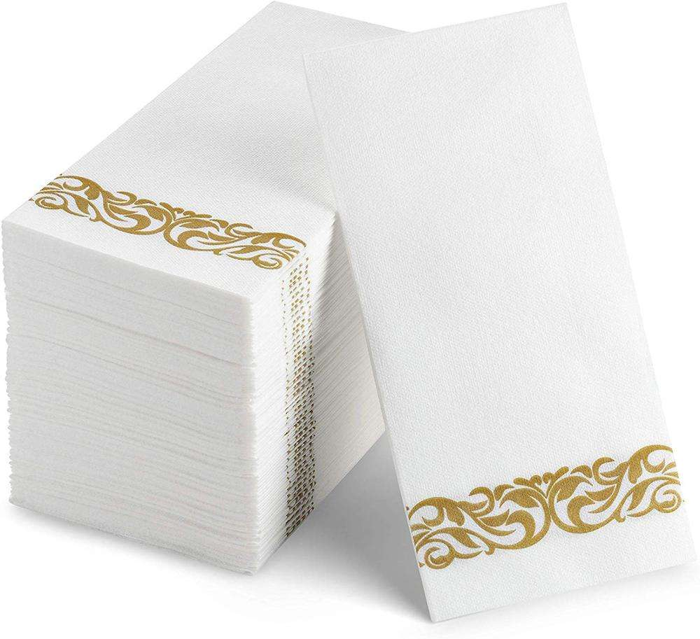 Decorative Paper Napkin 40cm x 30cm Disposable Floral Hand Towel