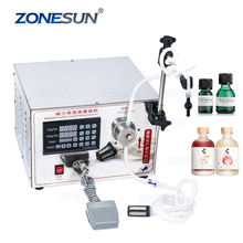ZONESUN ZS-YG1 Electric High Accuracy Small Dose 1-5000ml Single Nozzle Liquid Smoking Oil Filling Machine Supply