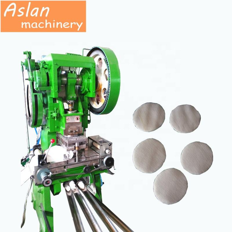 round cotton pad making machine / makeup remove facial tissue paper making machine