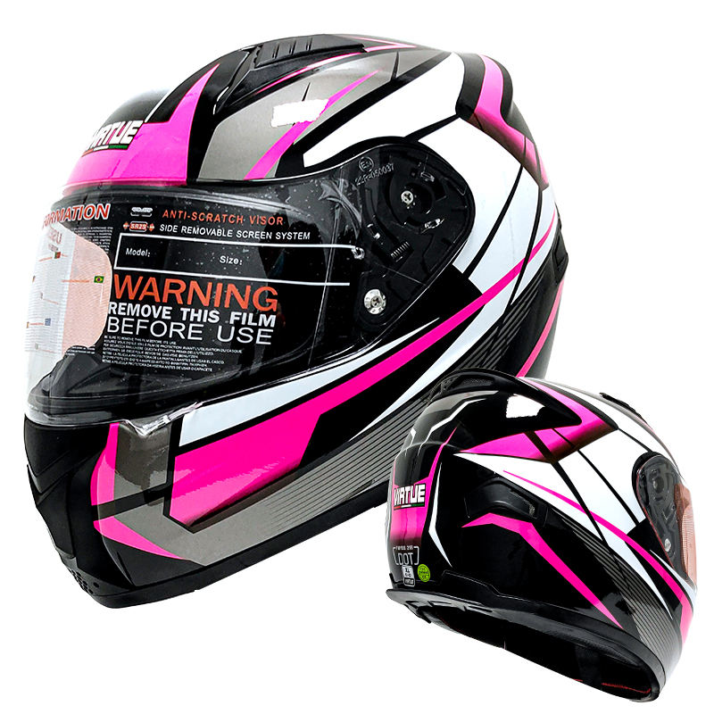 ECE 22.05 Wholesale Full Face Helmet Motorcycle Flip Up Racing Cross Vega Motorcycle Helmets Pink for Women Female Folding Sale