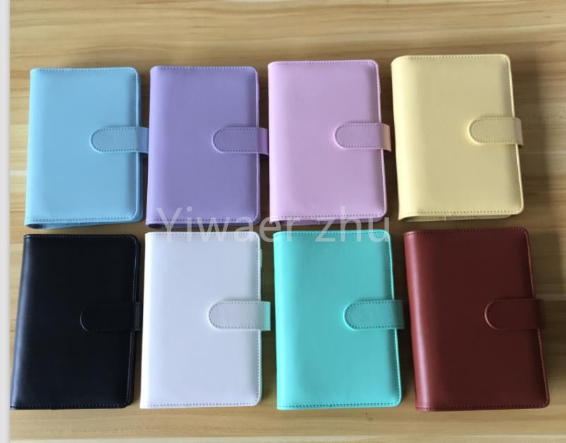 2021 New 8 color Empty Notebook Binder A6 Loose Leaf Notebooks without Paper Notebook Notepads Magic Book Folder