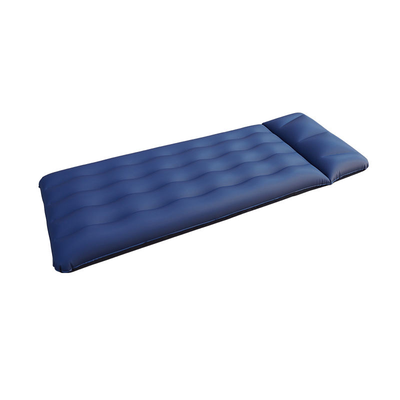 New Design Single Inflatable Flocking Bed with Pillow Home Living Room or Outdoor Camping Inflatable Matter