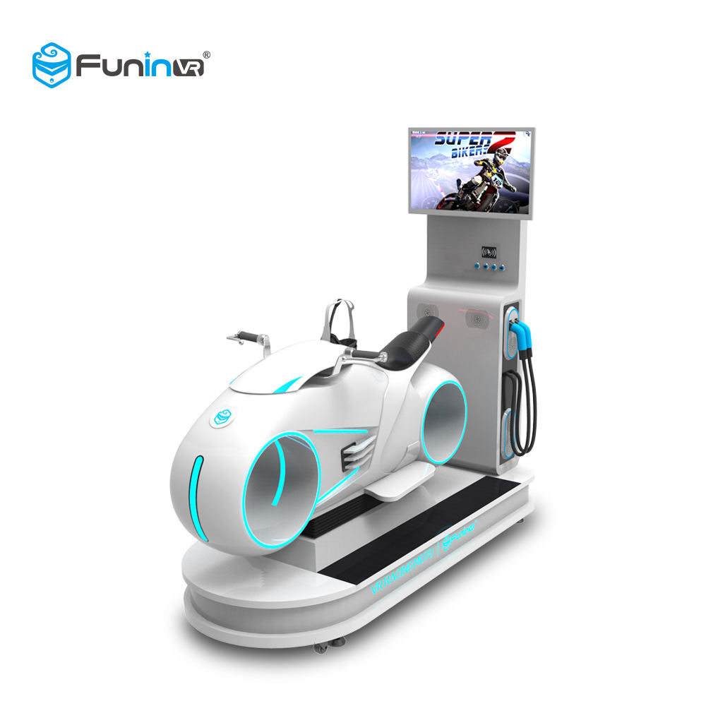 Easy Operation Amusement Park 9D VR Racing Simulator Moto 9D VR Machine